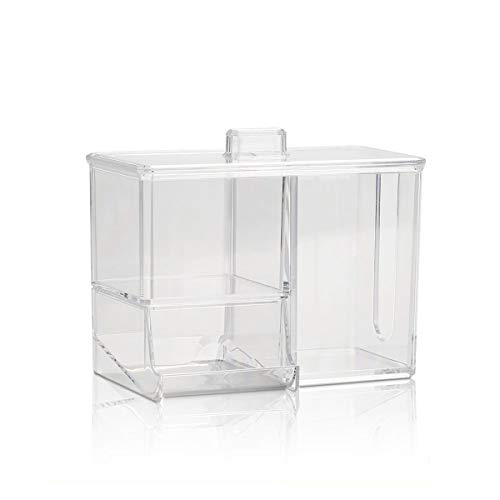 YuLinStyle Ps staubdicht aufbewahrungsbox mit Deckel, einfarbig transparent Finishing-Box, Desktop schublade aufbewahrungsbox, Kunststoff aufbewahrungsbox Regale für Wände, Regale für Küchenwände -