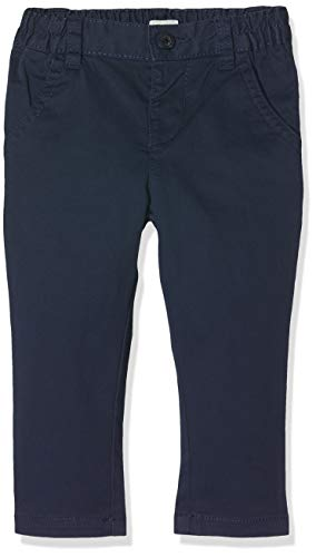 United Colors of Benetton Baby-Jungen Trousers Hose, Blau (Blu Scuro 13c), One Size (Herstellergröße: 90) (Herren Popeline Hosen)