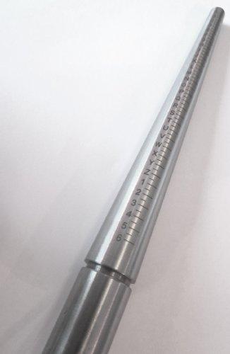 Ringstock, aus massivem Stahl, A-Z Triblet 2 in 1, mit Druckmesser, runde Form für Juwelier für Schmuck