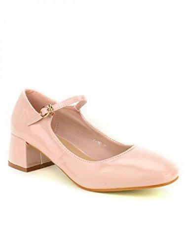 Cendriyon, Ballerine vernie STEPHAN Rose Chaussures Femme Rose