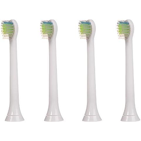 4 uds (1x4) de cabezales para cepillos de dientes E-Cron®. Philips Sonicare DiamondClean Mini recambios. Totalmente compatibles con los siguientes modelos de cepillos de dientes eléctricos Philips: DiamondClean, FlexCare, FlexCare Platinum, FlexCare(+), HealthyWhite, 2 Series, EasyClean y PowerUp.