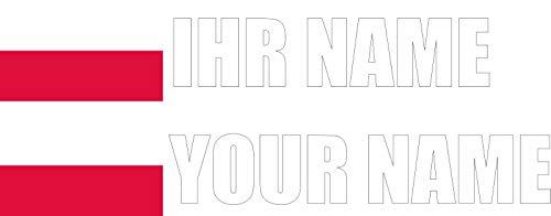 INDIGOS - Aufkleber - Polen - Schrift weiß - Folie - Auto, Ordner, Motorrad, Fahrrad, Wand, Tür, Kühlschrank usw - 90x18 mm - Flagge Name individuell personalisiert