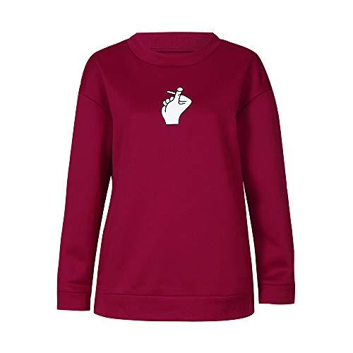 TianWlio Hoodie Pullover Damen Sweatshirt Langarmshirt Bluse Kapuzenpullover Frauen Herbst Mode Langarm Gedruckt Sweatshirt Bluse Tops T-Shirt
