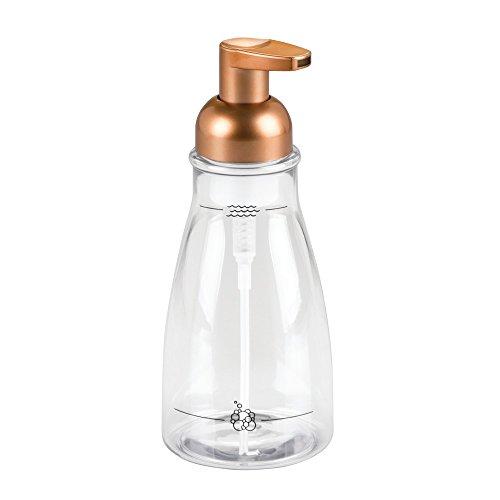 Bar Soap Dispenser (InterDesign 50109EU Schaumseifenspender für Küche oder Bad, durchsichtig / kupfer)