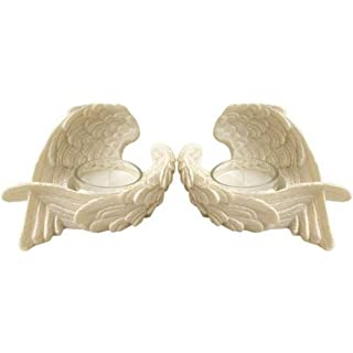 Set of 2 Angel Wings Tealight Holders