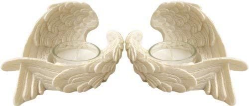 Set von 2Engel Flügel Teelichthalter