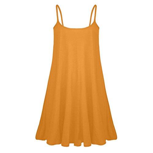 SANFASHION Kleid Damen Sommer Frauen Casual ärmellosen Print Boho Short Mini Sommerkleid