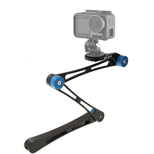 jfhrfged Faltbare Selfie Stick Einbeinstativ Sport Digitalkamera Zubehör Verstellbarer Arm Handheld DJI Action für GoPro für Xiaoyi
