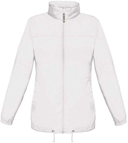 B&C Sirocco Lightweight Damen Jacke, besonders leicht, wasserabweisend XXL,Weiß
