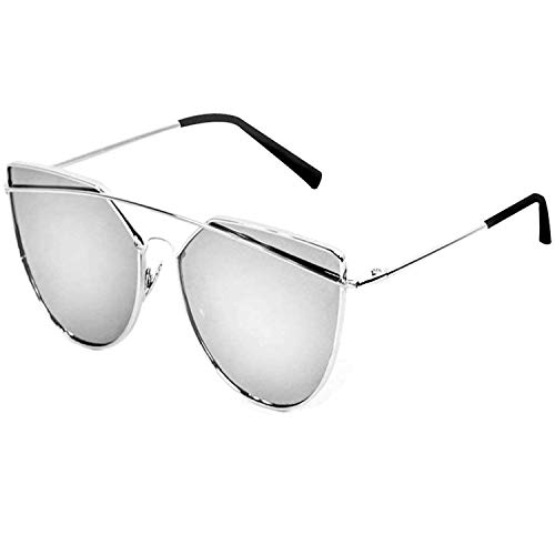 Y&S UVA UVB Protected Unisex Sunglasses for Boys Girls Mens and Womens (DRSSM SINGLE) (SILVER MERCURY REFLECTOR GOGGLES)
