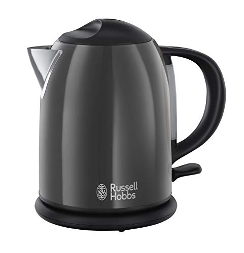 Russell Hobbs 20192-70 - Hervidor de agua compacto, 1 l, resistencia oculta, 2200 W, acero inoxidable, Gris Oscuro