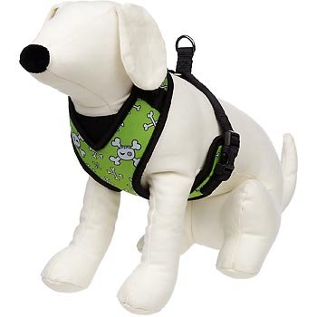 petco-adjustable-mesh-harness-for-dogs-in-green-with-skull-crossbones-print-by-petco