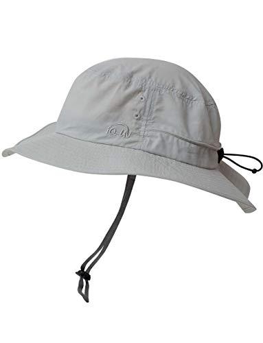 iQ-UV Erwachsene Safari Hat Sonnenhut, Grey, 55-61cm -