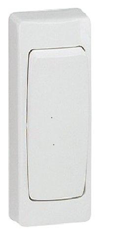 Legrand leg97601Schalter/Wechselschalter Aufputz schmal weiß