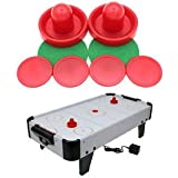 SLB Works Brand New 2Pcs Air Hockey Table Goalies Puck Felt Pusher Grips Mallet Grip Red 96mm Gift