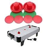 SLB Works Air Hockey Table Goalies Puck Felt Pusher Mallet Grip (Red, 96mm)
