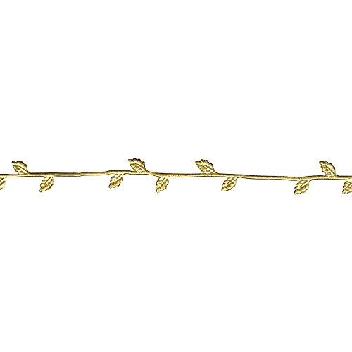 Rayher 3109806 Wachs-Borte, 21 cm, SB-Btl. 2 Stück, gold