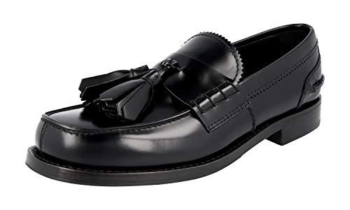 Prada 2DG086 B4L F0002 Herren Business-Schuhe aus gebürstetem Spazzolato-Leder, Schwarz (schwarz), 44.5 EU - Schuhe Prada Kleid Männer