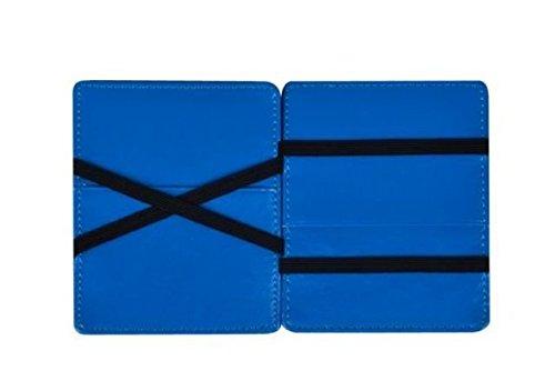 7a1fe00e45 Vip Flap Portafoglio Porta Carte in Pelle Linea Double Edition (NERO-BLU)