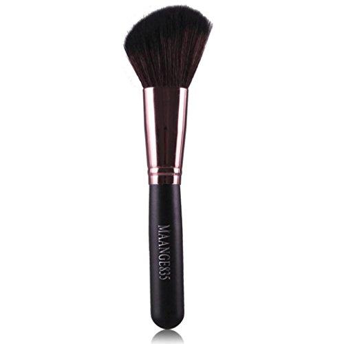 Pinceaux Maquillage, Kingwo Fusion Foundation Powder Sourcils Cils Lèvres Brosse (Café)