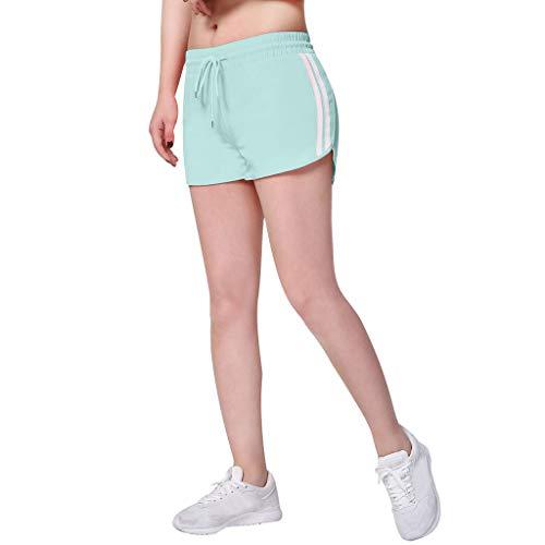 Kurz Leggings Kurz Yoga Tights Shorts Blickdicht Laufshorts Atmungsaktiv Sweatpants Sport Fitness Bermuda-Shorts Sommer Tunnelzug Turnhose ()