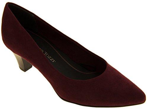 Marco Tozzi 22413-27 Effet de Suède Mi-Talon Chaussures Femmes Violet