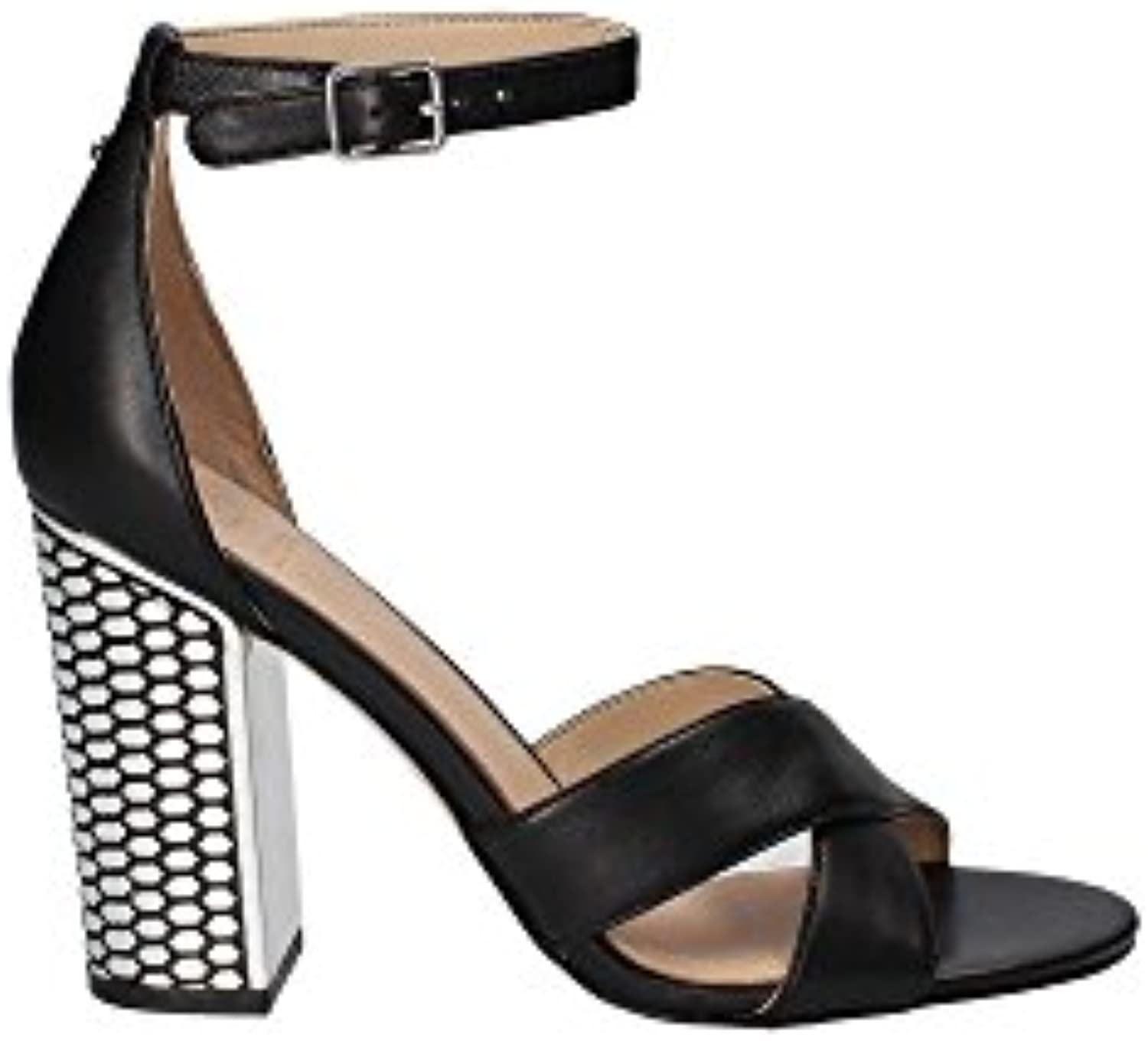 Guess Guess Guess FLRNE1LEA03 Sandalo Donna in Pelle Nera MainApps | Forma elegante  | Uomo/Donna Scarpa  5b24ee
