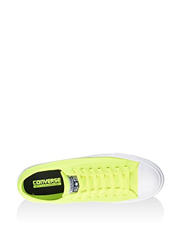 Converse CT As II Ox Neon Poly, Sneaker Basse Unisex - Adulto Lime/Bianco
