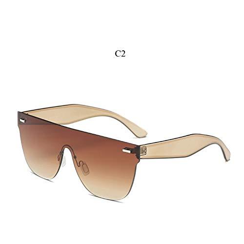 ZHENCHENYZ Flat Top Randlose Sonnenbrille Damen Markendesigner Pink Rot Sommer Einteiler Linse Gelb Sonnenbrille Weiblich Männlich Billig Party