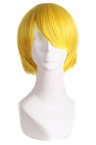 MapofBeauty Cosplay Kostüm Männer kurze gerade Perücke (blond) -