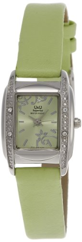Q & Q Analog Green Dial Women's Watch - S041-302Y image