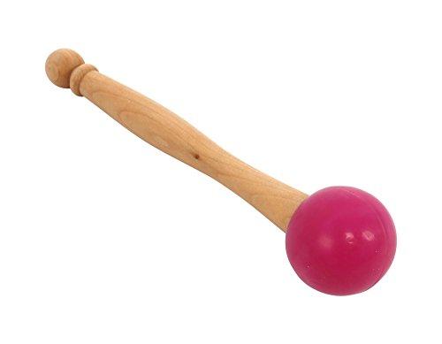 Gummihammer mit Holzgriff für Kristall Ball Striker Klangschalen Sound Heilung Yoga Meditation 20cm (20cm) m rosarot -