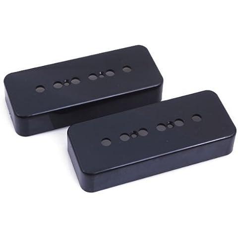 DN Black Guitar P90 Soapbar Pickup Covers P 90 Set