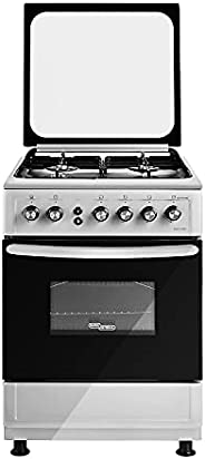 Super General Freestanding Gas-Cooker 4-Burner Full-Safety, Stainless-Steel Cooker, Gas Oven with Rotisserie,