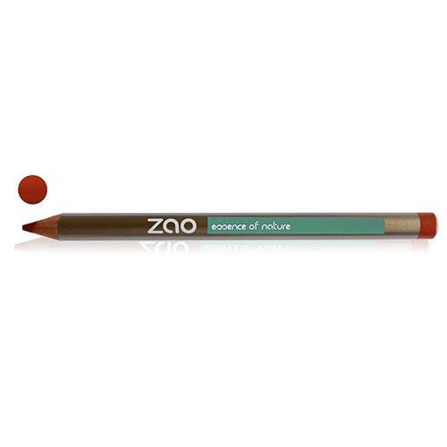 ZAO Holzstift 608 orange-braun Lipliner Lippenkonturenstift (bio, Ecocert, Cosmebio, Naturkosmetik)
