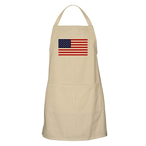CafePress–American Flagge HQ–Küche Schürze mit Taschen khaki