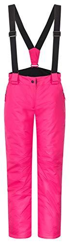 icefeld Damen Skihose/Snowboardhose / Schneehose, pink in Größe S