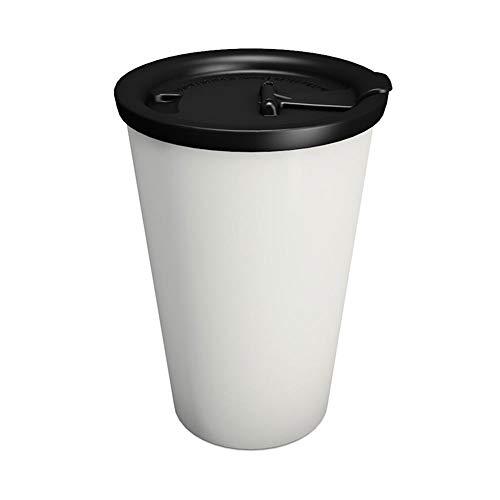 "Ornamin Coffee to go Becher 400 ml ""But first Coffee"" grau, auslaufsicherer Deckel (Modell 1210 + 1214) / Kaffeebecher, nachhaltiger Mehrweg-Becher Kunststoff"