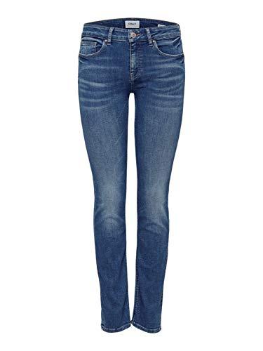 ONLY Damen Jeans ONLFEVA REG Slim BB SOO732AB - Slim Fit - Blau - Medium Blue, Größe:W 30 L 32, Farbe:Medium Blue Denim (15185324)