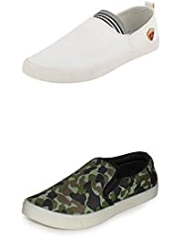 Scantia Men/Boys Combo Casual Pack Of 2 Trendy Canvas Shoes With Stylish Look New Latest Fashionable Casual Combo... - B075MHT68Z