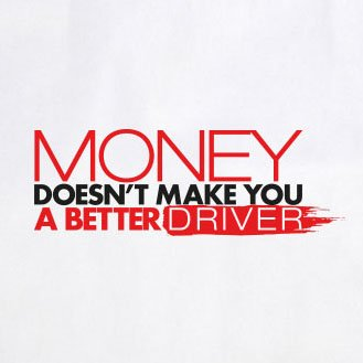 Money doesn't make you a better Driver - Herren T-Shirt Grau Meliert