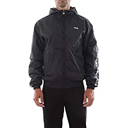 FILA. Kway Impermeabile Uomo Men Tacey Tape Wind Jacket Nero 682359 002