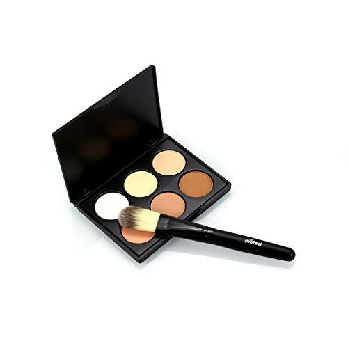 Contour Gesicht (erthome 6 Farben Gesichtspuder Camouflage Cream Contour Palette Tragbarer Multifunktions-neuer Anzug)