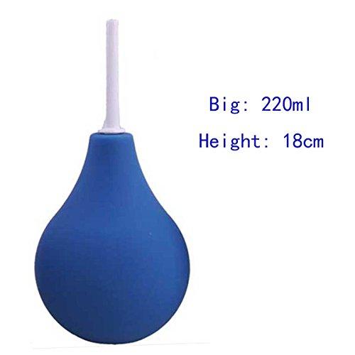 LUOOV Deluxe Anal & Vaginal Dusche L, Klistierspritze 89ml,160ml,220ml,310ml (220ml, Blau)