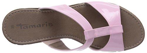 Tamaris 27207 Damen T-Spangen Sandalen mit Keilabsatz Pink (Rose 521)