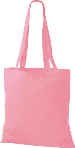 10x Stoffbeutel Baumwolltasche Beutel Shopper Umhängetasche viele Farbe classic pink