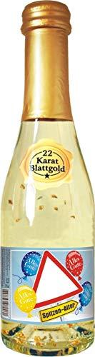 AV Andrea Verlag Zum Geburtstag neutral für Frauen Piccolo Sekt 22 Karat Blattgold Goldflocken Gold 0,2 l, 10{6a07dde8c0cb805767b82a32de9803ddba83baf3cf472cdf09147271938e2a7a} vol. mit Hochglanzetikett das prickelnde Lifestyle Getränk Alles Gute Happy Birthday