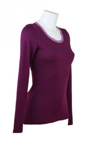 fashion4EVA Langarmshirt Purpur