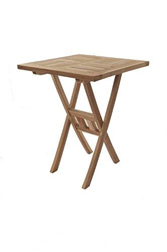 SAM® Teak-Holz Balkontisch, Gartentisch, Holztisch Square, 60 x 60 ...