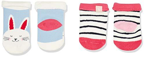 Tom Joule Joules Baby-Mädchen Socken Terry, Mehrfarbig (Bunny), L